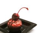 chocolate covered cherry brownie bite poster