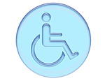 wheelchair button poster