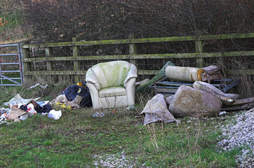 dumped rubbish