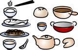 chinese cuisine icons poster