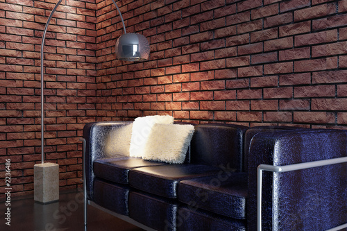 Illustrazione: sofa 3d rendering