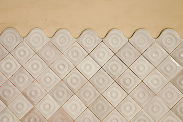 modernist tile wall