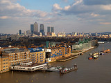 the tower bridge in london and thames-