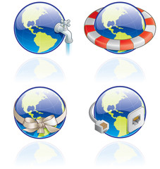 the globe icons set - design elements 54c