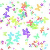 pastel butterfly wrapping paper poster