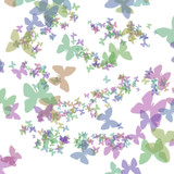 pastel butterfly gift paper poster