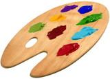 künstler farb palette poster