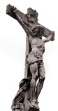 marble statue of crucified jesus poster