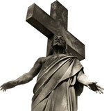 marble jesus christ 1 poster