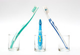 family of toothbrushes poster