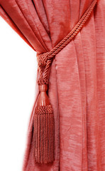 red luxury curtain