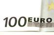 billet de 100 euros en vue macro