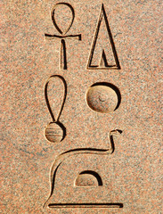 ancient egyptian hieroglyphics - portrait