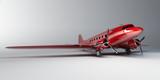 Fototapety red airplane