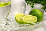 limes and sparkling water poster
