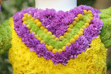 heart shaped flower arrangement poster