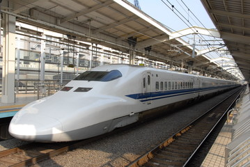 bullet train at a station