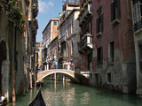 water way along the streets of venice, italy poster