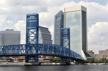 blue drawbridge
