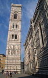 bell tower and cathedral in florence, italy poster