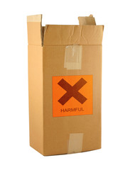 cardboard box with harmful content #2