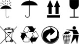 symbols for packing subjects. poster