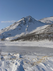 the mountain is a custodian of the ice lake