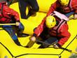 Leinwanddruck Bild - river rafting