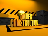 under construction 3d render