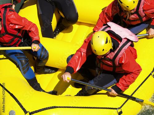 Leinwanddruck Bild river rafting