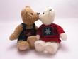 obraz - kissing bears 1