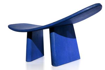 siège de méditation bleu