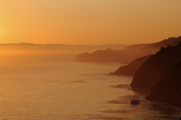 sepia sunset, the big sur