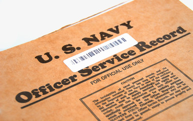 u.s. navy officer service record