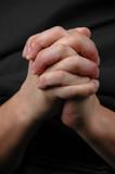hands in prayer poster