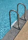 swimming pool stairs poster