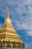 golden stupa in wat phra kaew, bangkok, thailand poster