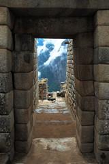 machu picchu, ancient inca doorway