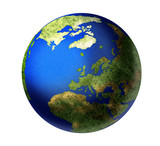 globe europe rendered poster