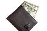 wallet with us dollars poster