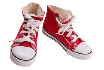 red vintage sneakers