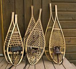 assorted snowshoes