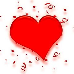 valentine confetti heart