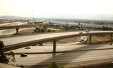 freeway interchange in southern california poster