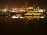 barcelona harbour by night poster