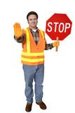 crossing guard full body isolated poster