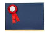 certificate and award ribbons badge poster