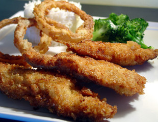 breaded chicken fingers