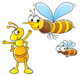 bee and ant poster