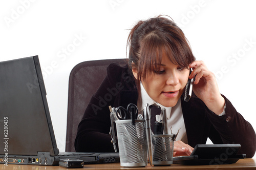businesswoman at desk #18